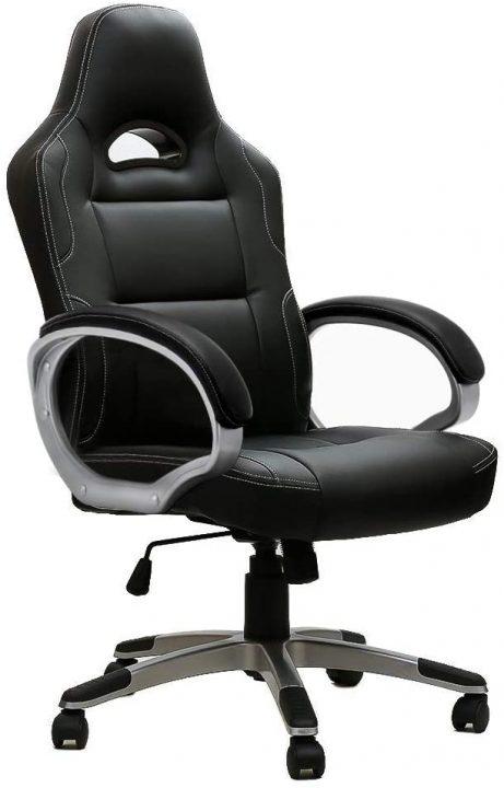 silla gamer barata color negro