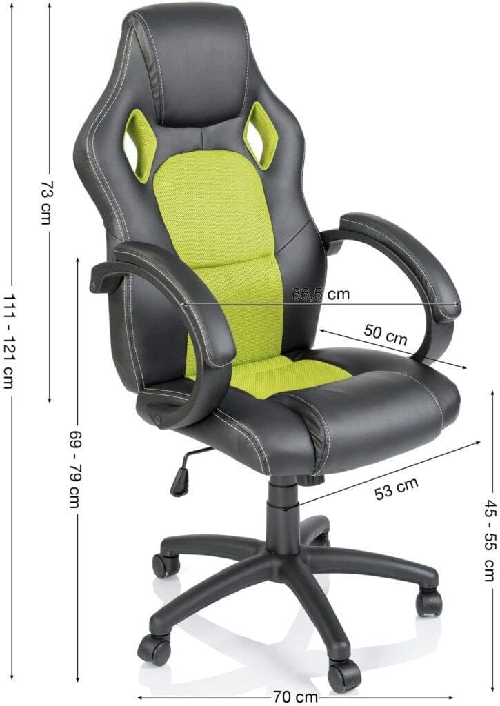 silla gaming barata negro y verde