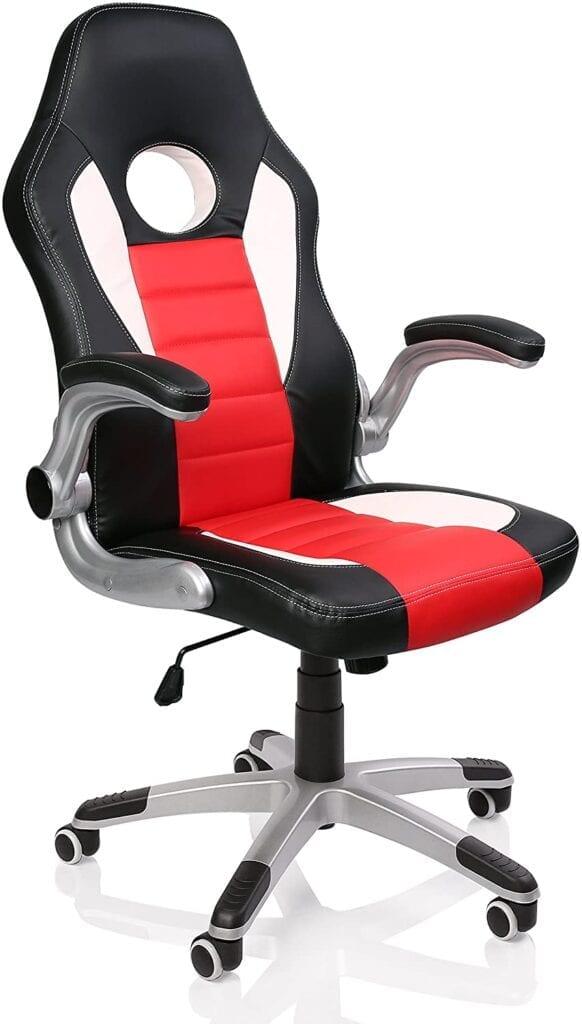 silla gamer barata negro y rojo
